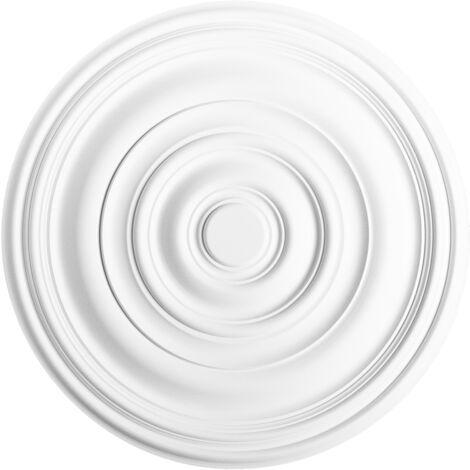 R40 Rosace décoration de plafond Orac Decor - ø 74.5cm - moulure polyuréthane - tube de colle : Sans tube de colle
