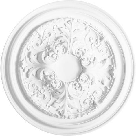 R52 Rosace décoration de plafond Orac Decor - ø 69.5cm - moulure polyuréthane - tube de colle : Sans tube de colle