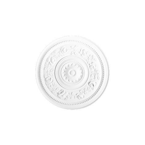 R61 Rosace décoration de plafond Orac Decor - ø 40cm - moulure polyuréthane - tube de colle : Sans tube de colle