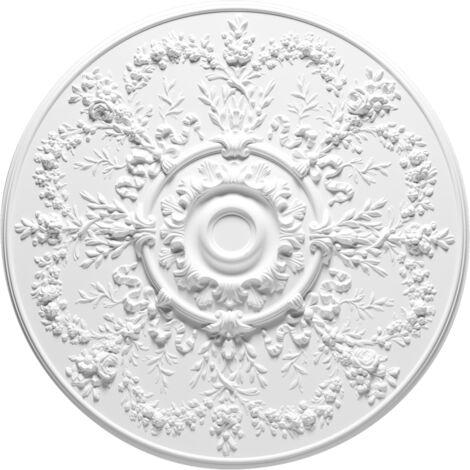 R64 Rosace Orac Decor décoration de plafond - ø 95.5cm - moulure polyuréthane - tube de colle : Sans tube de colle