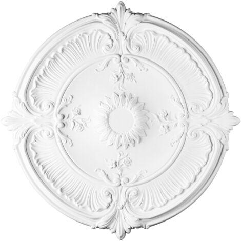 R73 Rosace décoration de plafond Orac Decor - ø 70cm - moulure polyuréthane - tube de colle : Sans tube de colle
