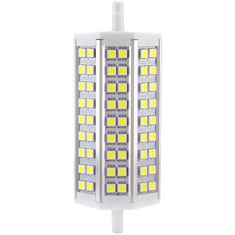 R7S 10W 54 LED 5050 SMD de ahorro de energia lampara de luz 135mm blanco 100-240V Reemplazar Proyector halogeno, blanco