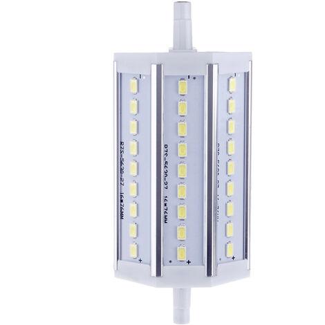R7S 8W 27 LED 5630 SMD de ahorro de energia lampara de luz 118mm blanco 100-240V Reemplazar Proyector halogeno, blanco