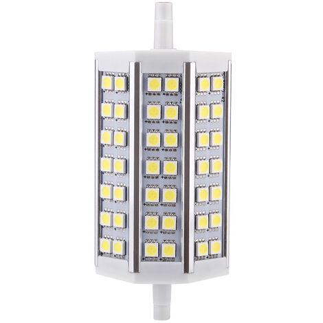 R7S 8W 42 LED 5050 SMD de ahorro de energia lampara de luz 118mm blanco 100-240V Reemplazar Proyector halogeno, blanco