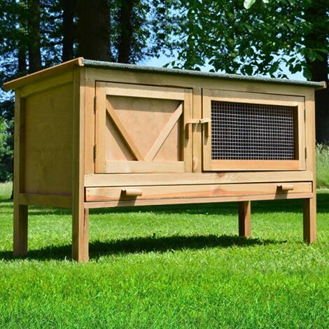 Rabbit hutch / chicken coop rabbit run, guinea pig hutch, chicken hut 118 x 45 x 69 cm