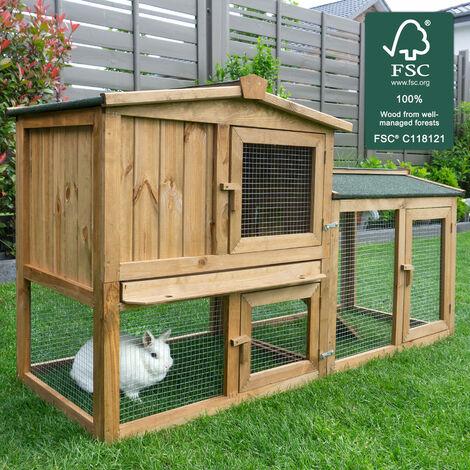 Rabbit hutch / chicken coop rabbit run, guinea pig hutch, chicken hut 145 x 53 x 83,5 cm