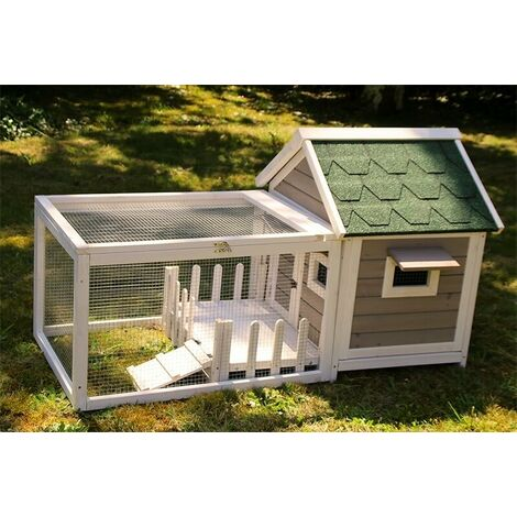 Rabbit hutch / chicken coop rabbit run, guinea pig hutch, chicken hut 146 x 74 x h82.5 cm