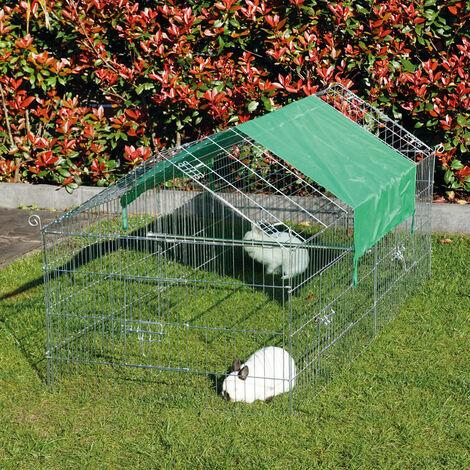 Rabbit hutch / chicken coop rabbit run, guinea pig hutch, chicken hut 1,80 x 0,74 x 0,75 m