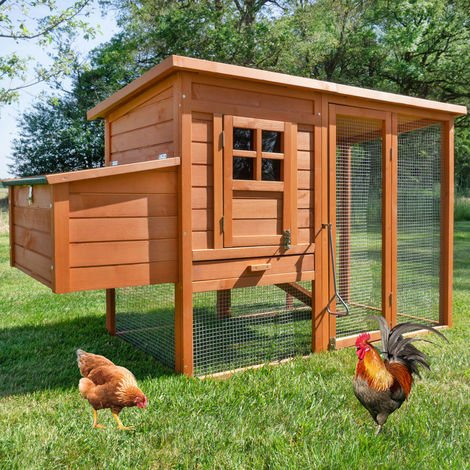 Rabbit hutch / chicken coop rabbit run, guinea pig hutch, chicken hut 182 x 75 x 103 cm