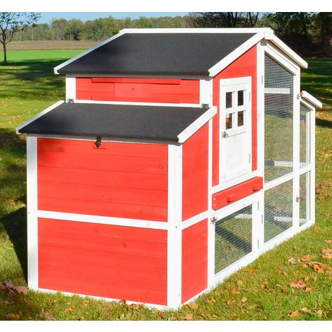 Rabbit hutch / chicken coop rabbit run, guinea pig hutch, chicken hut 200 x 116 x 81 cm (B x T x H)
