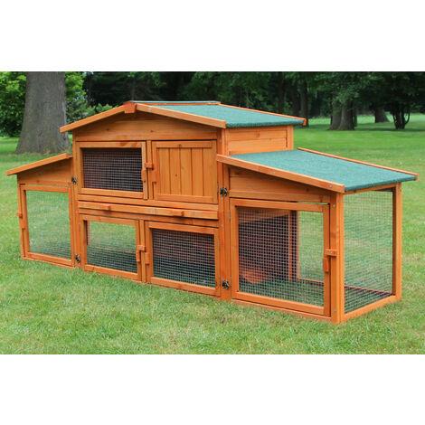 Rabbit hutch / chicken coop rabbit run, guinea pig hutch, chicken hut 228 x 62 x 90 cm