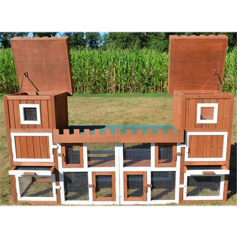 Rabbit hutch / chicken coop rabbit run, guinea pig hutch, chicken hut 260 x 54 x 128 cm