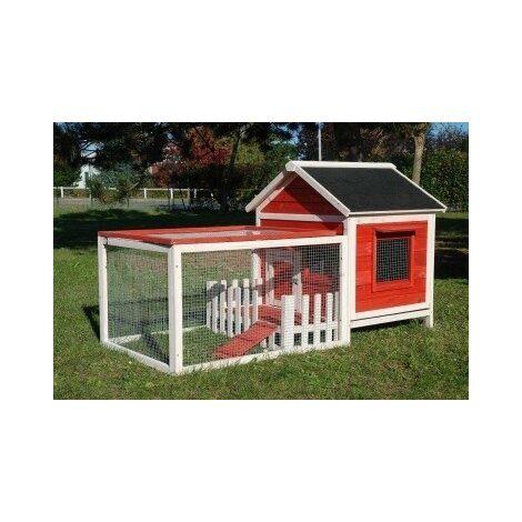 Rabbit hutch / chicken coop rabbit run, guinea pig hutch, chicken hut 82 cm x 63.5 cm x 49.5 cm