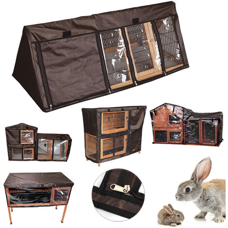 Rabbit Hutch Cover 4 FT Single Tier Bunny Wooden Pet House Cage Rain Cover