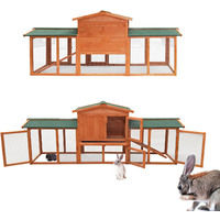 Rabbit Hutch Free Running Guinea Pig Bunny Rodent Hutches Cage Enclosure