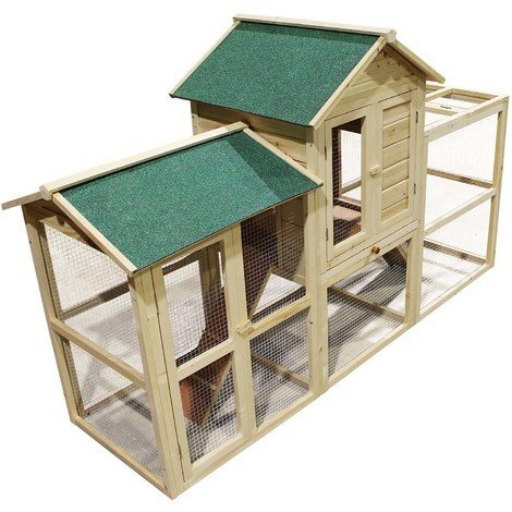 Rabbit hutch guinea pig bunny small animal pet house cage enclosure outdoor huge running area wood