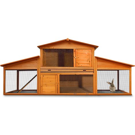 Rabbit Hutch Large Guinea Pig 210 X 71 X 100 Cm 1028540869