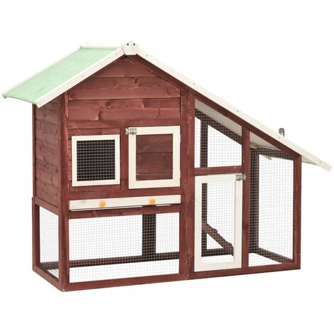 """main image of """"Rabbit Hutch Mocha and White 140x63x120 cm Solid Firwood8498-Serial number"""""""