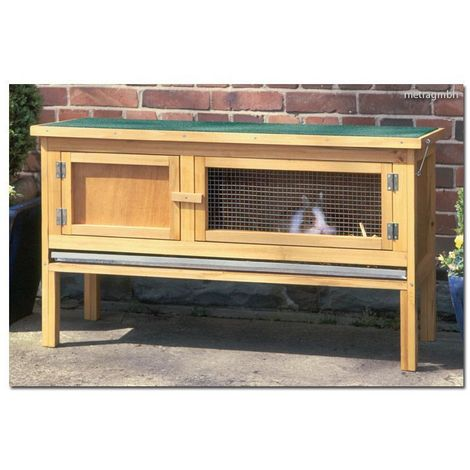 Rabbit hutch small animal house 116x66x45cm