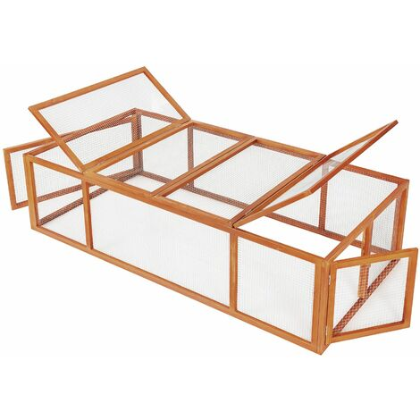 Rabbit run 181x90x48cm - brown