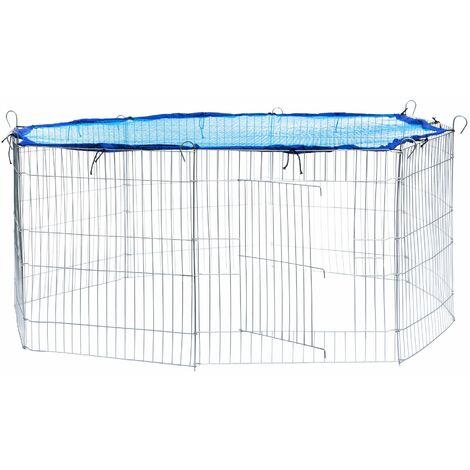 Rabbit run with safety net - guinea pig run, rabbit cage, rabbit pen