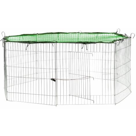 Rabbit run with safety net - guinea pig run, rabbit cage, rabbit pen