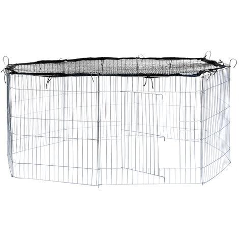 "main image of ""Rabbit run with safety net - guinea pig run, rabbit cage, rabbit pen"""