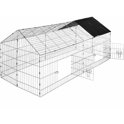 Rabbit run with sunshade - guinea pig run, rabbit cage, rabbit pen