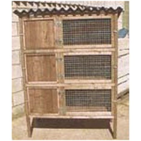 Rabbit Triple Breeder - Pet Hutch for rabbits or guinea pigs