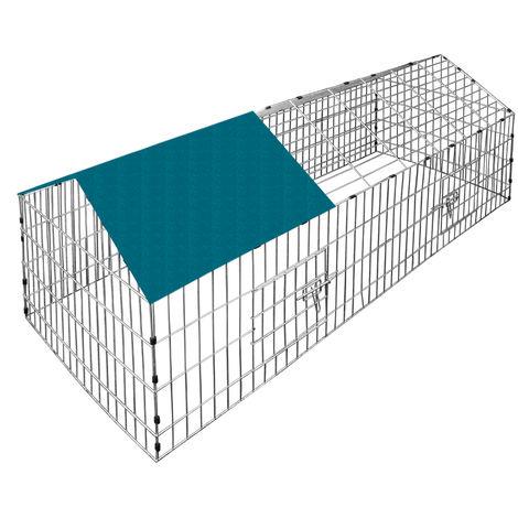 Rabbits Enclosure Run 180 x 75 x 75 cm Sun Protection Cover Green