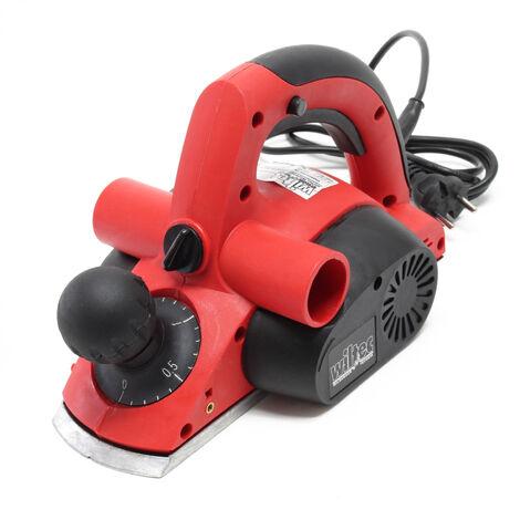 Rabot électrique 750W 82 mm x 2 mm Raboteuse électrique Feuillure Rainurage Chanfreiner Rabotage