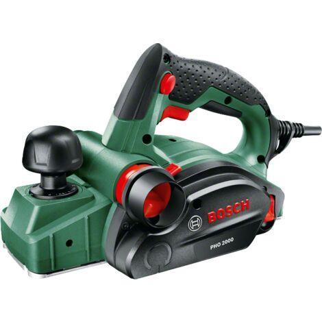 Rabot filaire Bosch - PHO 2000 (680W, Fer réversible pour rabot en carbure, clés six pans mle, emballage carton)