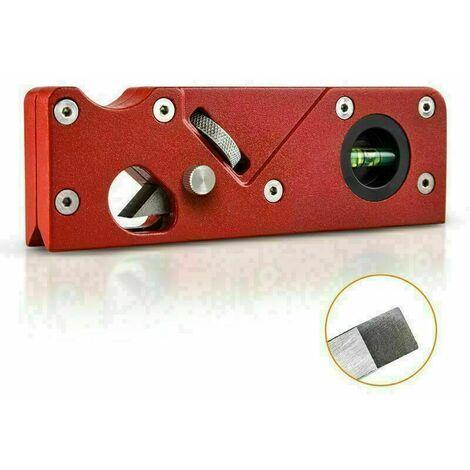 Rabot manuel à chanfreiner pour le travail du bois ,15.2 x 4.8 cm, rouge..