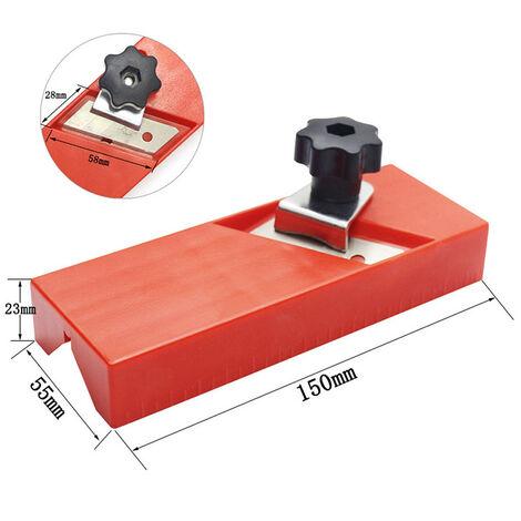 """main image of """"Rabot manuel pour plaques acoustiques Polyester Rabot pour bois ABS Rabot pour plaques de plâtre Trimmer 45 degrés Outil de rabotage à chanfreiner"""""""