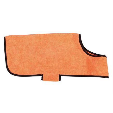 RAC Advanced Microfibre Towel Dog Coat (One Size) (Orange)