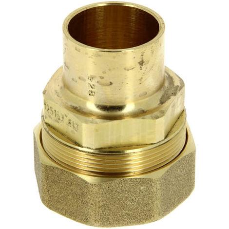 Raccord 2 pieces droit a braser O28 PEHD O32 gaz naturel