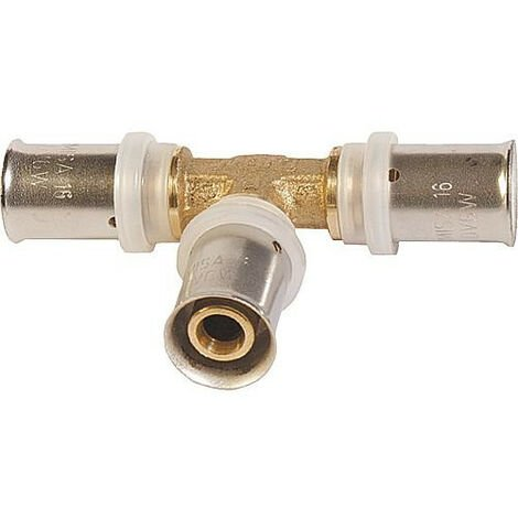 Raccord à compression contour TH pour tube multicouche, T réduit 18x2 - 16x2 -16x2mm