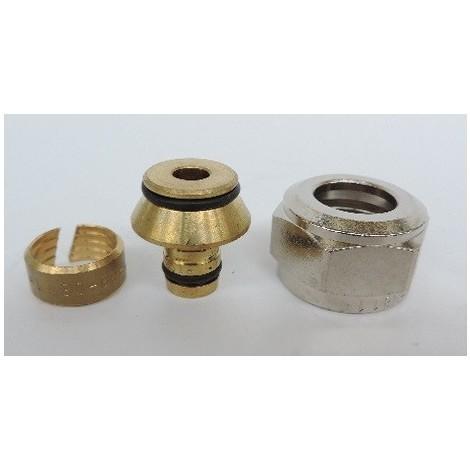 "Raccord à compression Eurocône pour tube multicouche Ø 16mm sortie 20X27 (3/4"") bi-matière laiton / PPSU TECELOGO TECE 8740216"