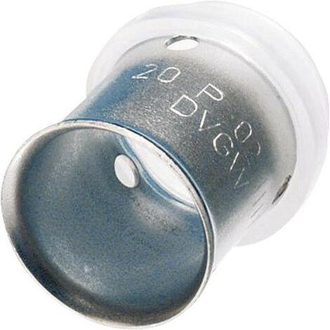 Raccord à compression pour tube multicouche, douille à sertir en inox, 18 mm, contour TH