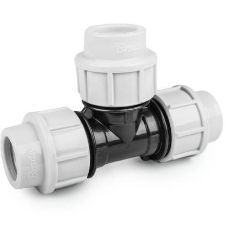 Raccord à compression Té égal PN16 pour tube PE 32 mm