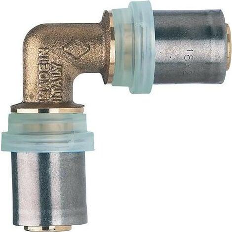 Raccord a sertir multicouche Accouplement coude 90° 14x2mm - 14x2mm, contour TH