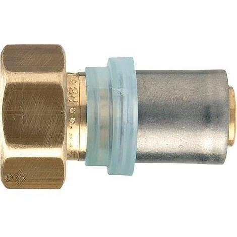 "Raccord a sertir multicouche raccord a vis joint plat 18x2mm - 3/4"", contour TH"