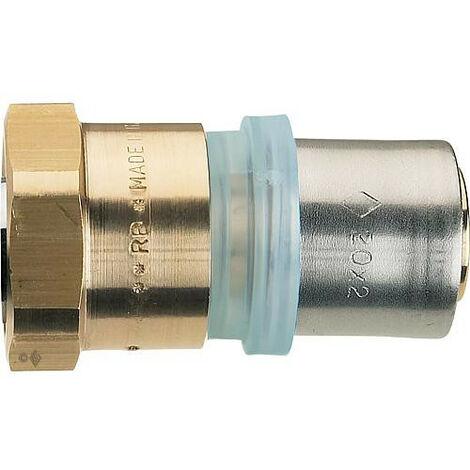"Raccord a sertir multicouche raccord filetage femelle 18x2mm - 1/2"", contour TH"