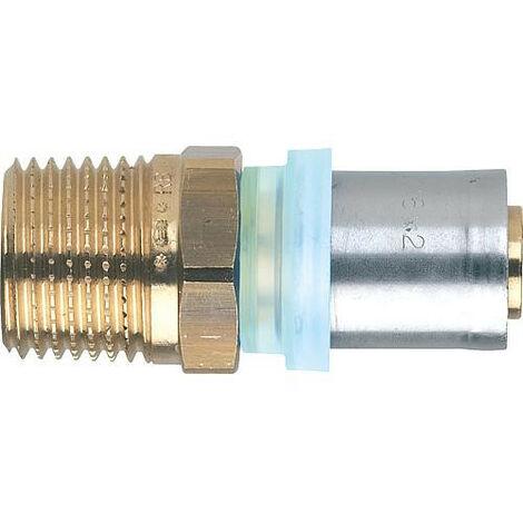 "Raccord a sertir multicouche raccord filetage male 14x2mm - 1/2"", contour TH"