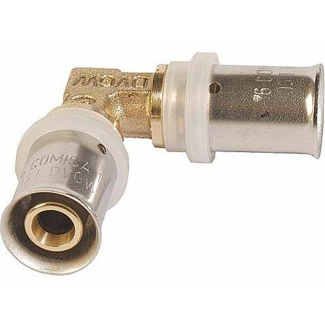 Raccord à sertir pour multicouche, coude 90° 16x2 - 16x2mm