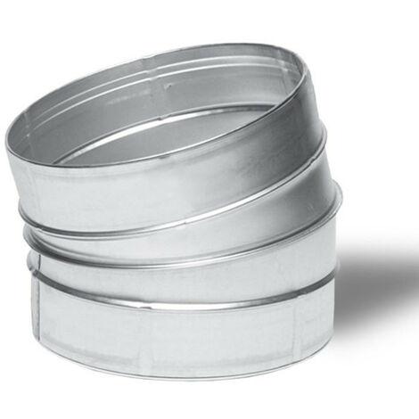 Raccord - Angle métal 15° 125mm - Winflex ventilation