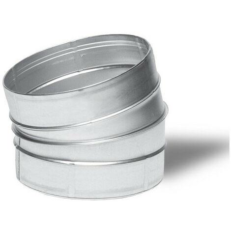 Raccord - Angle métal 15° 160mm - Winflex ventilation
