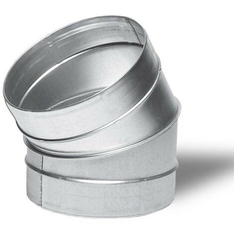 Raccord - Angle métal 30° 125mm - Winflex ventilation