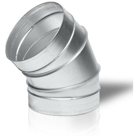 Raccord - Angle métal 45° 125mm - Winflex ventilation