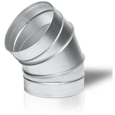 Raccord - Angle métal 45° 160mm - Winflex ventilation